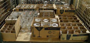 Glass Tumbler and Wine Glass Assortment