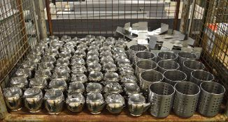 Table number stands, Tea pots, Cutlery pots