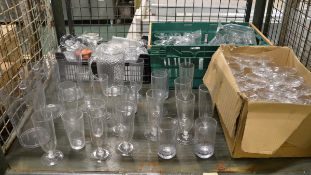 Plastic glasses, plastic jugs