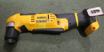 Dewalt DCD740 right angle drill, 18V / XR Li-Ion with charger, 1 battery