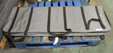 Drum Perspex Sound Screen in carry bag