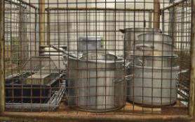 Catering equipment - large pots, gastronorm trays, fridge shelves
