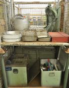 Field Kitchen set - cooker, oven, utensil set in carry box, accessories