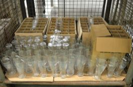 Various glassware - Cobra, Fosters, Strongbow, Bulmers, Caffreys