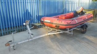 Avon ERB 400 PRO inflatable boat - Mariner Marathon 30 outboard engine - Quicksilver gasol