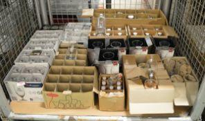 Various glassware - vinegar bottles, bottles, jugs, glasses