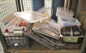Kitchen Accessories - Assorted Plastic Boxes, Cooking Trays & Cling Film Dispenser