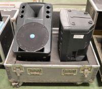 RCF ART 300 PA Speakers in Flight Case - L920 x D570mm