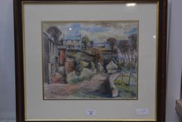 T. R. Wilson Scottish 20thc, Balerno, watercolour, signed and dated lower left, 32cm x 40cm