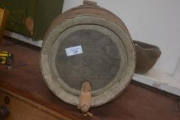 William Younger's of Edinburgh beer barrel, complete with wooden tap, 42.5cm x 38cm