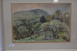 Alexander Inglis R.S.W. British, Helmkuat from Bradchigill, watercolour, signed and dated lower
