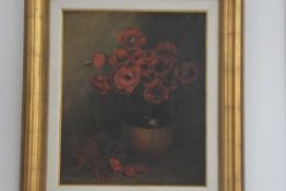 Ernest Chesmer Montford (1844-1922) Floral Still Life, oil on canvas, signed lower right, 59cm x