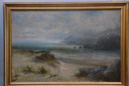 William Langley (British 1852-1922) On the Dunes, oil on canvas, signed lower left, 39.5cm x 59.5cm