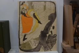 After Henri de Toulouse-Lautrec, Jane Avril, poster, 78cm x 59cm