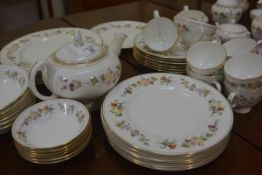 A Wedgwood Mirabelle pattern dinner service, comprising coffee set (a lot)