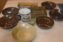 Carolina M. Valvona, a mixed lot of stoneware rectangular and circular glazed bowls, together with
