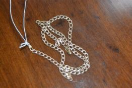 A 9ct gold curb link chain, 11.6g