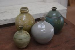 Carolina M. Valvona, a group of four glazed studio pottery vases (4)