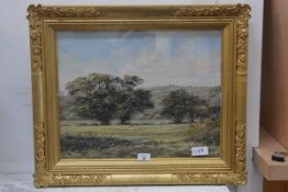 Alan Morgan (b. 1952) Rural Landscape, acrylic on board, signed lower left, 38cm x 47.5cm