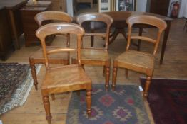 A set of four 19thc Edinburgh kitchen chairs