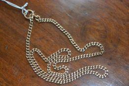 A 9ct gold curb link chain, 58.5cm long, 23.5g