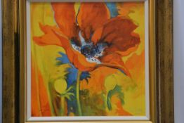 Simon Brown, British 20thc, Summer Flowers, print on canvas, signed lower left, limited edition,