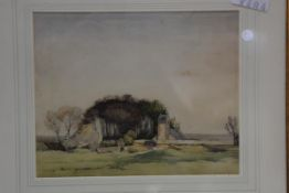 David Murray Smith (1865-1952) Highland Kirk, watercolour, signed lower right, 22.5m x 28cm