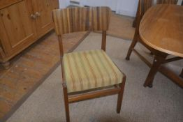 A set of four 'Cumbrae' teak dining chairs by Morris of Glasgow, with upholstered seats