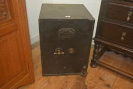 A 19th/20thc fire safe by Alexander Adam of Falkirk, no key, currently locked