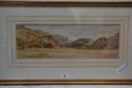 A. Balfour, Highland Landscape, watercolour, signed lower left, 16cm x 49cm