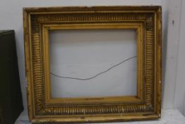 A 19thc moulded gilt picture frame, the slip titled Francisque, internal measurements, 38cm x 48.
