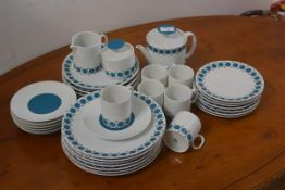 A Thomas, Germany vintage part coffee and dinner service comprising coffee pot, sugar, cream,