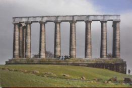 A canvas printed photograph of the Folly on Calton Hill, Edinburgh (85cm x 128cm), £20-40