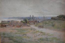 19thc. Scottish School, Fisherrow, Edinburgh, watercolour, ex Calton Gallery, Christmas Exhibition 1