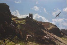 A canvas printed photograph, Salisbury Crags, Edinburgh (86cm x128cm), £30-40