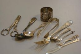 A group of Norwegian 830 standard flatware, including teaspoons, butter forks, jam spoons, napkin ri