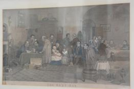 After W. Wilkie RA, the Red Day, engraving highlighted with colour, first published January 6th 1877