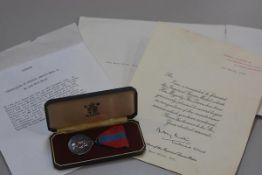 A Citation and Presentation of Imperial Service War medal to John Muir Milne, complete with original