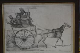 H.B. John Doyle, satirical print, Uphill Work!, published by T.M McLean, Haymarket, 15th June 1835,