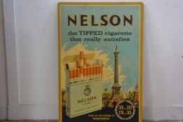 A coated fibre board panel Nelson's the Tipped Cigarette that really Satisfies (77 x 51), £30-50