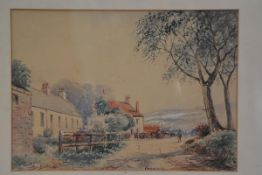 Alex Burks, Cairn Cross, watercolour, signed and dated 1922 (26cm x 37cm), £20-40