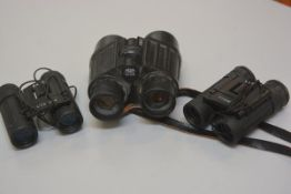 Two pairs of Vision 8x21 miniature field glasses, a pair of Lizars Carl Zeiss Jenner 32b field glass