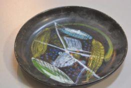 Carolina Valvona, a terracotta glazed plate with Ears of Corn design (d.28cm), £20-40