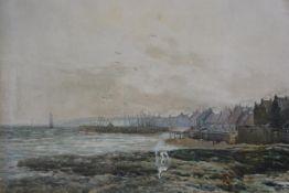 John Hamilton Glass (1890-1925), Fife Coastal Scene with Harbour, watercolour, signed (35cm x 50cm),
