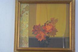 I. McGovin, Still Life with Roses, oil on panel, signed (45cm x 50cm), £80-120