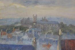 Elma Northey (1876-1967), Linlithgow, watercolour, signed, Malcolm Innes Gallery label verso (16cm x