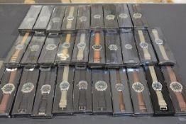 A collection of thirty gentleman's quartz sports wristwatches (new and unused) (30)