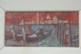 Carlo Rossi RSW RGI (Scottish: 1921-2010), Lagoon, Venice, oil on panel, ex Open Eye Gallery,