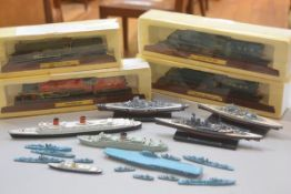 A group of diecast collectable model locomotives including King Class Great Western Railway, Duchess