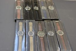 A collection of ten gentleman's quartz sports wristwatches (new and unused) (10)